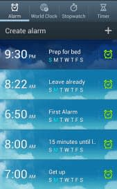 set alarms to be on time