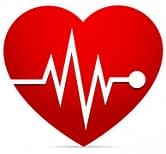 Heart affected by microwave radiation