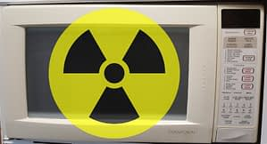 Radiation from microwave